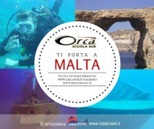 A giugno ORCA organizza un w-e lungo a Malta.