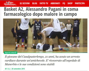 Basket - in coma durante partita