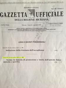 Gazzetta Uff Sicila dicembre 2014